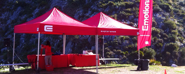 Commercial advertising folding canopy tent EMOTION